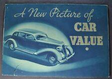 1935 Plymouth Catalog Sales Brochure Deluxe Nice Original 35