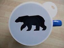 Découpe Laser Polar Bear Design Café et Craft pochoir