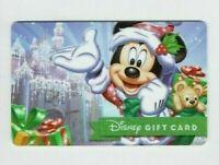 DISNEY Gift Card Christmas Mickey Mouse w Santa Sack - No Value - I Combine Ship