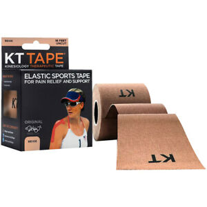 KT Tape Cotton 16 ft Uncut Kinesiology Therapeutic Elastic Sports Roll - Beige