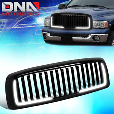 FOR 2002-2005 DODGE RAM 1500/2500/3500 BADGELESS VERTICAL STYLE GRILL W/LED DRL