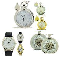 Boxx Gents Masonic Gold Silver Tone Jumbo Pocket Watch Pocket Watch Wrist Watch