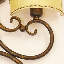 LAMPADA DA PARETE APPLIQUE VENTOLE ART.123 FERRO BATTUTO PARALUME WALL LIGHT