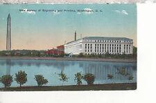 New Bureau of Engraving and Printing  Washington D.C.   Mailed 1916 DB PC 3117