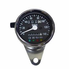Chrom Mini Tachometer mit Kontrolleuchten Speedometer MPH 2:1 für Harley FXR FL