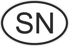 Adesivo adesivi sticker codice auto moto ritagliato nazioni ovale senegal