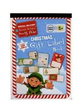Christmas Gift Label Book - 120 Peel Labels - With Gold & Silver Foil Labels