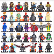 Lot of 34Pcs MiniFigures Lego Super Heroes MARVEL.DC Series Batman Superman Hulk