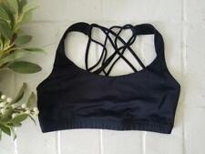 ONZIE strappy black sports bra yoga run womens medium large stretch