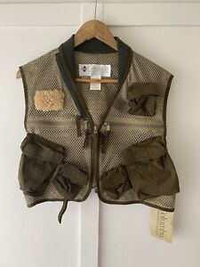 Columbia Green Fly Fishing Vest Size M New With Tags