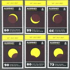 Alderney-Coastal eclipsa a-Set-estampillada sin montar o nunca montada 2017-espacio-ciencia