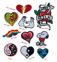 Love Heart romance cute badges collection Iron or Sew on Embroidered Patch