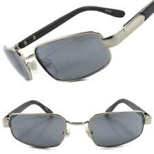 Rare Genuine Vintage 70s 80s Deadstock Rectangle Hip Hop Sunglasses Silver Frame