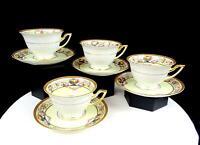 "THOMAS BAVARIA GERMAN PORCELAIN BRIARCLIFF 8 PIECE 2 1/2"" CUPS & SAUCERS 1908-"