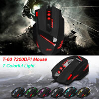 ZELOTES T-60 7200DPI Professional USB Wired Optical 7Button Gaming Mouse Mice MI
