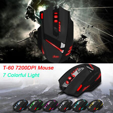 ZELOTES T-60 7200DPI Professional USB Wired Optical 7 Buttons Gaming Mouse Mice