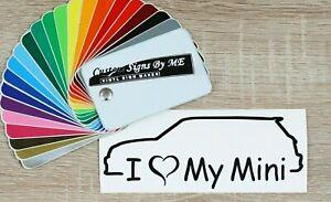 I Love My Mini Stickers Vinyl Decal Adhesive Side Window Bumper BLACK type #2