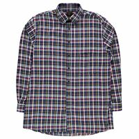 Fusion Mens Multi Check Shirt Long Sleeve Lined Lightweight Print Chest Pocket