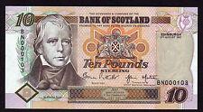 Scottish First Run Banknotes
