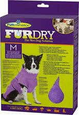 Furminator Furdry Towel Dog Pet Grooming Bathing Purple Medium M