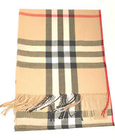 New Pashmina Scarf Shawl Veil Beige Quality Wrap Woman Men Plaid Accessory