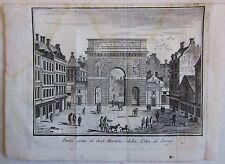 1748 PORTA S. MARTINO PARIGI Porte Saint-Martin Paris acquaforte Salmon Albrizzi