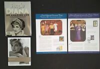 Princess Diana Collector Lot Collector Stamp Panels 2pc. People Magazine...