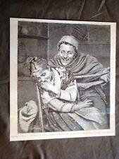 Uss'ingaccia la gavetula (S'arruffa la matassa) Quadro di Art.Moradei del 1880
