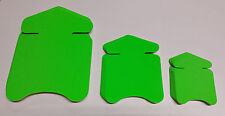 30 Pfeile in 3 Größen Neon grün Preisschild aus Karton Werbung deko Schaufenster