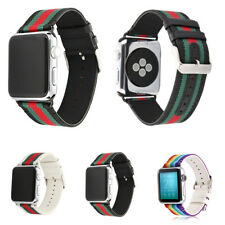 Nylon Leather Replacement Wrist Band for Apple Watch iWatch 38/42mm Sport Strap