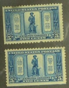 U.S.: SC#2 - 619 MH S.E. 1 w/ stain IRST124