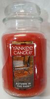 Yankee Candle AUTUMN IN THE PARK Large Jar 22 Oz Orange Housewarmer New Wax Fall