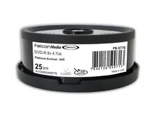 25-Pak FalconMedia Century PLATINUM ARCHIVAL 8X DVD-R w/ Ultra Hard Coat Surface