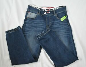 Tommy Hilfiger Jeans Spellout Jogger Style Elastic Waistband Draw String 12 Rare