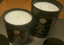 Lot of 2 DW HOME LUMP OF COAL CANDLES One LARGE DOUBLE WICK & One Medium Single