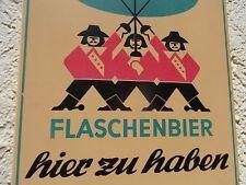 """Blechschild """" Wicküler Flaschenbier hier zu haben """" Werbeschild Wuppertal um1960"""