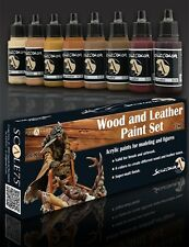 SCALE 75 SSE-004 - WOOD AND LEATHER PAINT SET - NUOVO
