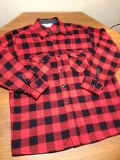 Vtg Frost Proof Woolen Wear 1970's Buffalo Plaid Mackinaw Shirt Jacket Mens L