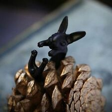 Vintage Rabbit Adjustable Size Jewelry Bunny Unisex Ring Black