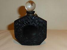 """Vintage Jean Charles Brosseau Empty Perfume Bottle Black Glass Stopper 3.5"""" Tall"""