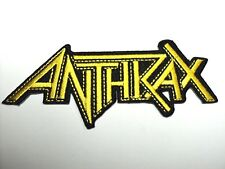 ANTHRAX  YELLOW   logo   EMBROIDERED  PATCH IRON OR SEW
