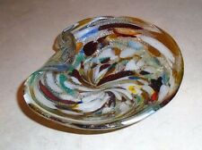 Vintage Murano Tutti Frutti Bowl with Silver Flake