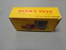 Dinky Toys Plateau Berliet Avec Container 34B Empty Box
