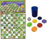Snakes and Ladders Traditional Childrens 35cm x 35cm Board Game Family Fun 907C