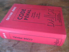 Livre Code Penal DALLOZ 2002