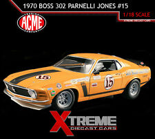 ACME A1801815 1:18 1970 BOSS 302 FORD MUSTANG PARNELLI JONES #15 TRANS AM