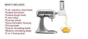 KitchenAid KSM150FB Artisan Series Bundle - 5-qt. Tilt-Head Stand Mixer New