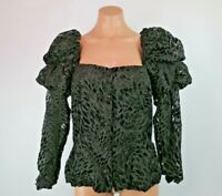VTG 80s PAT RICHARDS Velvet Burnout Puffy Sleeve Square neck Jacket Evening 8