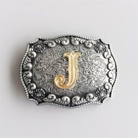 Original Western Initial Letter J Belt Buckle Gurtelschnalle also Stock in US