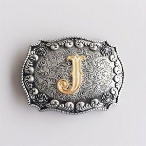 Original Western Initial Letter J Belt Buckle Gurtelschnalle also Stock in US